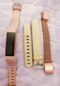 limited edition Fitbit alta rose gold with 2 extra straps (small)