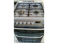 Freestanding Hotpoint Cannon CH60DHSF S Cooker - Silver