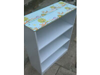 small white shelf unit