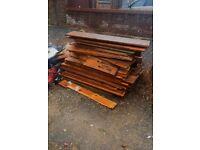 Free planks of wood