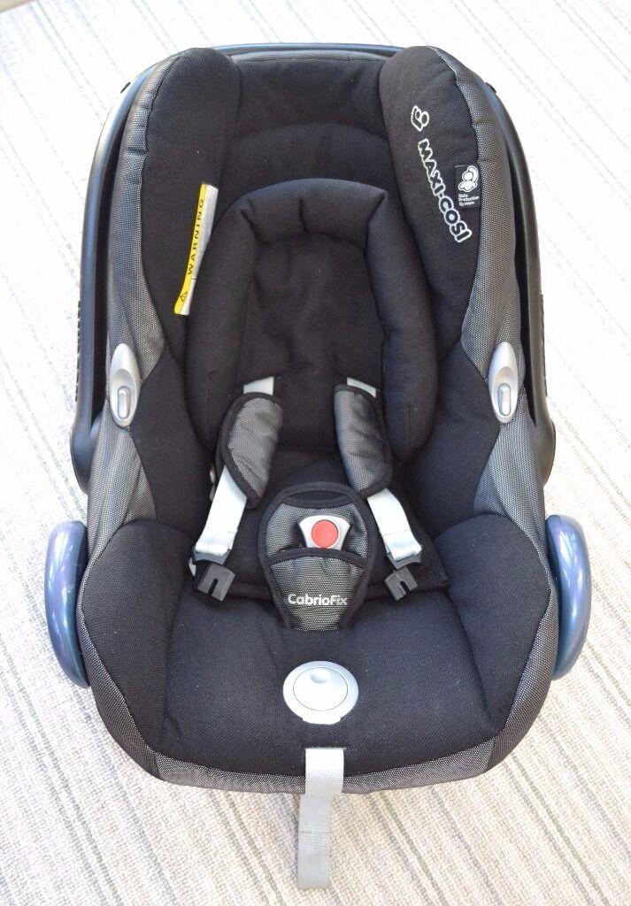 Black Maxi Cosi Cabrio Isofix Baby Car Seat Group 0