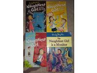 Enid Blyton's The Naughtiest Girl four (4) books