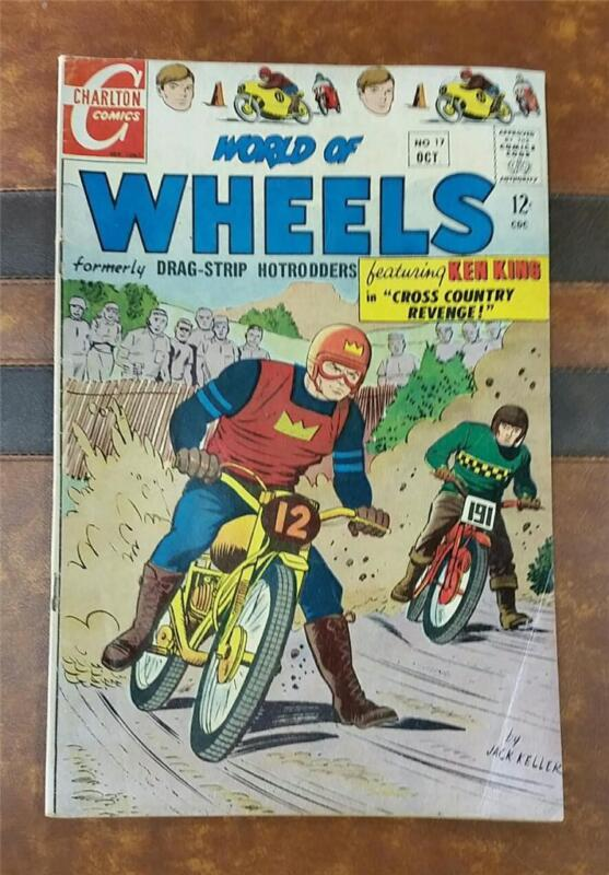 WORLD of WHEELS COMIC No.17 * SILVER AGE OCT 1967 12c MOTORCYCLE DIRT BIKE RACE
