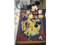 Mickey Mouse Rug and teddy