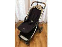 Mamas and Papas Armadillo Flip XT (Navy) Pushchair, Carrycot and Accessories (Pram / Travel System)