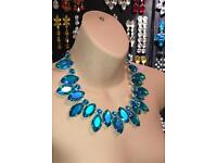 Large Austrian Crystal Necklace. Brand New, also have other colours. Made in the UK