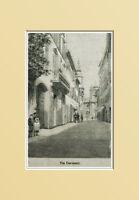 Loreto, Via Coronari.ancona.marche.santuario Madonna.xilo In Passepartout 1894 - corona - ebay.it