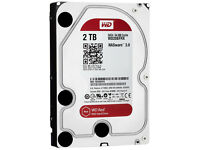 "WD Western Digital 2TB RED NAS HDD Hard Drive 3.5"" SATA 2000GB *NEW With 3 Year WD Warranty*"