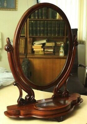 Antique Victorian Mahogany Toilet Mirror - FREE Shipping [PL4979]