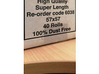 5 BOXES OF TILL ROLLS FOR SALE