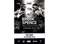 2 VIP ring side tickets for upcoming Kell Brook vs Errol Spence Jr boxing match at Sheffield Utd