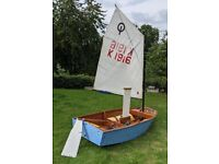 Optimist Wooden Dinghy (Sail No 1916) - ALMOST FREE TO A GOOD HOME