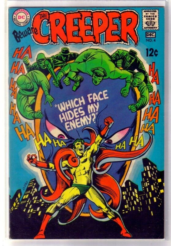 BEWARE the CREEPER #4 Which Face Hides My Enemy! DC Comic Book ~ VF
