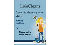 Lelecleans Domestic Cleaning £12ph