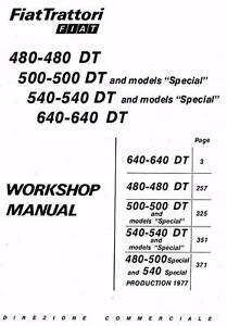 Fiat Tractor 480 500 540 640 & DT & Special Workshop Manual CD Maclagan Toowoomba Surrounds Preview