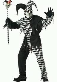 Evil Jester clown costume (new)