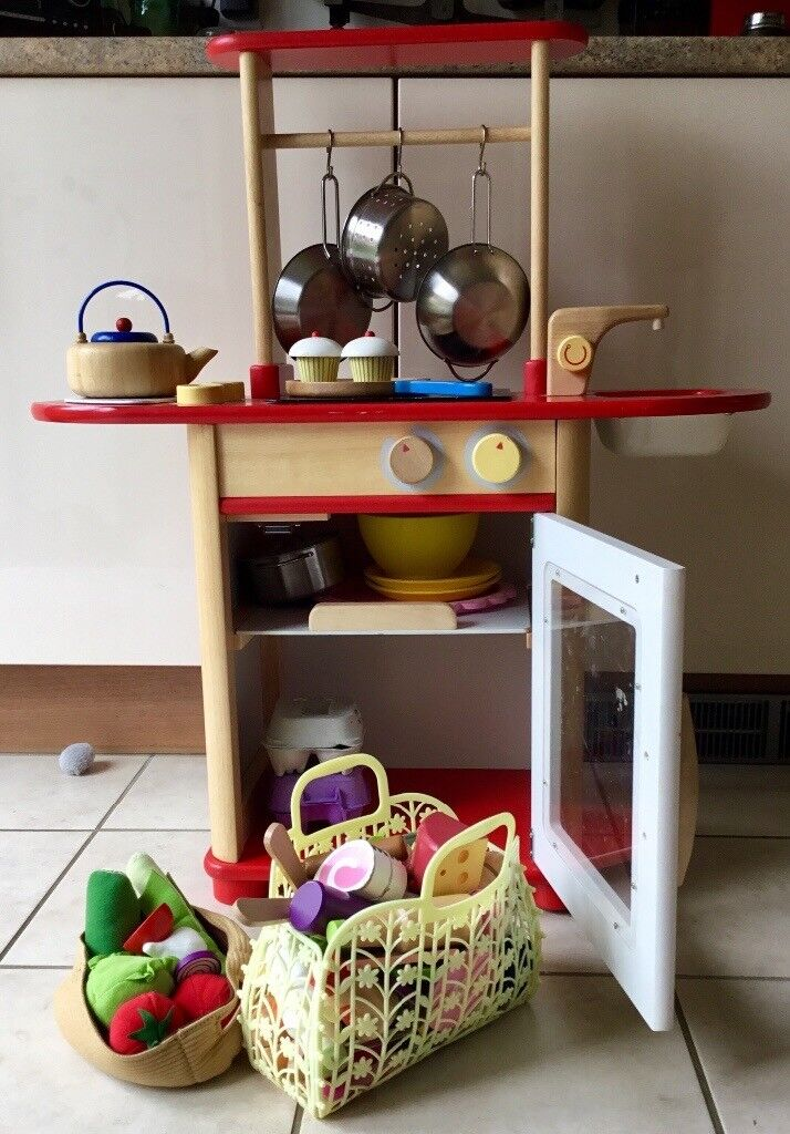 ***SOLD**** Pintoy solid wood child's play kitchen with all accessories