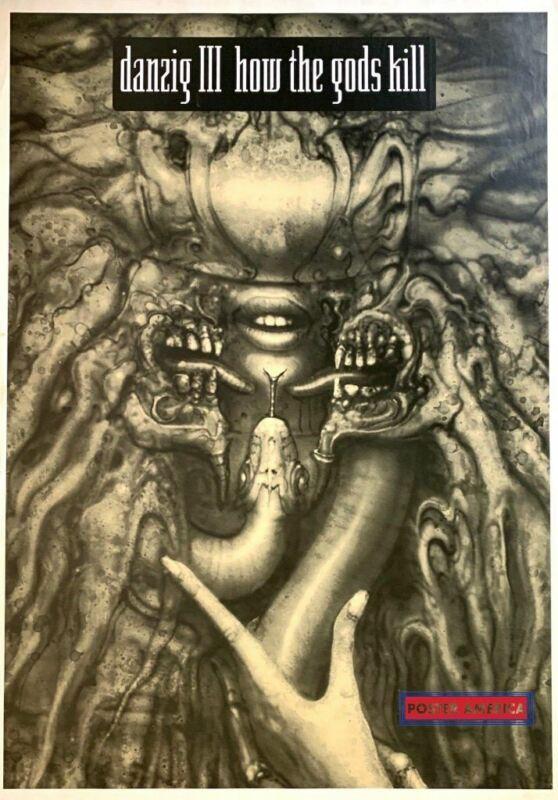 Danzig III How the Gods Kill H. R. Giger Art Rare Album Cover Poster 24 x 34