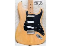 1990 FENDER Japan Stratocaster guitar with USA pickups and steel tremblock – MIJ! CAN POST!