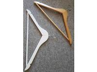 Wooden and Plastic Coat Hangers