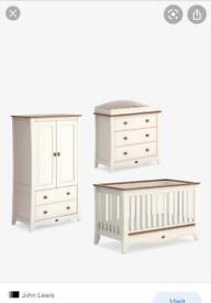 Boori Provence nursery furniture set (cream and pecan)