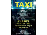 Rossendale Hackney Taxis Available for Hire - Rent - Track 50% OFF FIRST WEEK ** UBER READY **