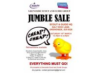 Jumble Sale at Grenoside Scout and Guide HQ - Sat 18th March at 12.30