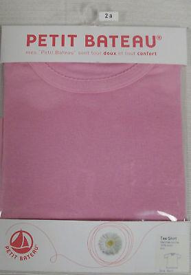 PETIT BATEAU Girl's Pink T-Shirt 71564 Sz 2 NEW $28