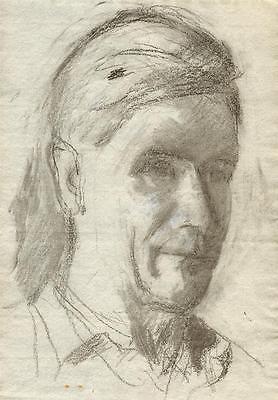 MALE PORTRAIT Pastel Drawing c1950 WALTER SICKERT Pupil FRANK GRIFFITH