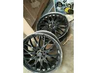 "Bk racing 18""alloy wheels needs painting 4x100 4x108"
