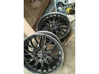 "Bk racing 18""alloy wheels needs painting 4x100 4x108"