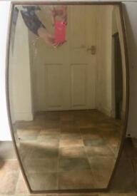 Vintage Bevelled Edge Wall Mirror Wooden Frame,