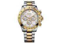 Hugo Boss Men's Chronograph Gold plated watch