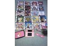 Nintendo DS, case, charger and games