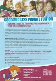Good Success helps children reach their full learning potential in Maths, English & Sciences.