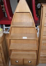 Oak Boat Bookcase. Sensible offers considered