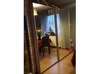 Wardrob with two sliding mirrow doors good condition high 195 length 180