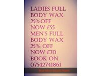 Wax offers now on