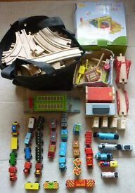 Wooden train track - complete set