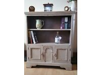 Beautiful Shabby Chic Carved Detailed Book Case with Cupboard Hand Painted in Annie Sloan