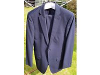 Dark blue pinstripe suit - chest size 38L - trouser size 32L