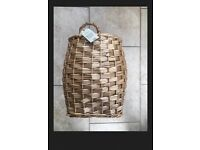 Next Natural Willow Storage Laundry Basket! NEW+TAGS! RRP £30! BARGAIN!