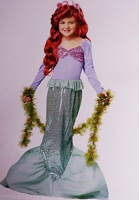 Little Girls MERMAID Dress Halloween Costume Outfit Teal Purple Large 10 12  NEW](Little Girls Halloween Outfits)