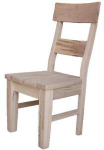Amish Mennonite Handcrafted Heavy Solid Wood Dining Chair Kits for Your DIY Kitchen Revonation Projects - FREE SHIPPING