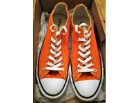 Converse Chuck Taylor All Stars Orange Canvas Shoes Trainers Footwear Mens / Womens Unisex Size 9