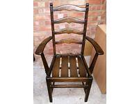 Two Ercol Carver Chairs in Dark Oak Colour