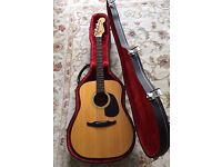 Vintage Fender Concord Acoustic Guitar With Hard Case