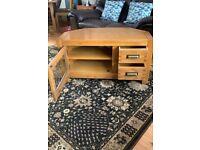 Montana Solid Oak Corner TV Cabinet