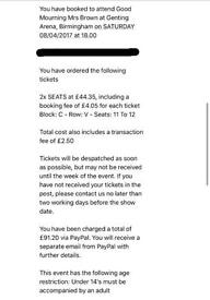 Mrs Browns Boys Tickets (BIRMINGHAM )