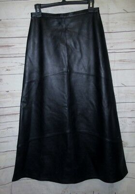 """Clothes by Revue 6 Skirt Long A-line Flare Lambs Leather Soft 27x37"""""""